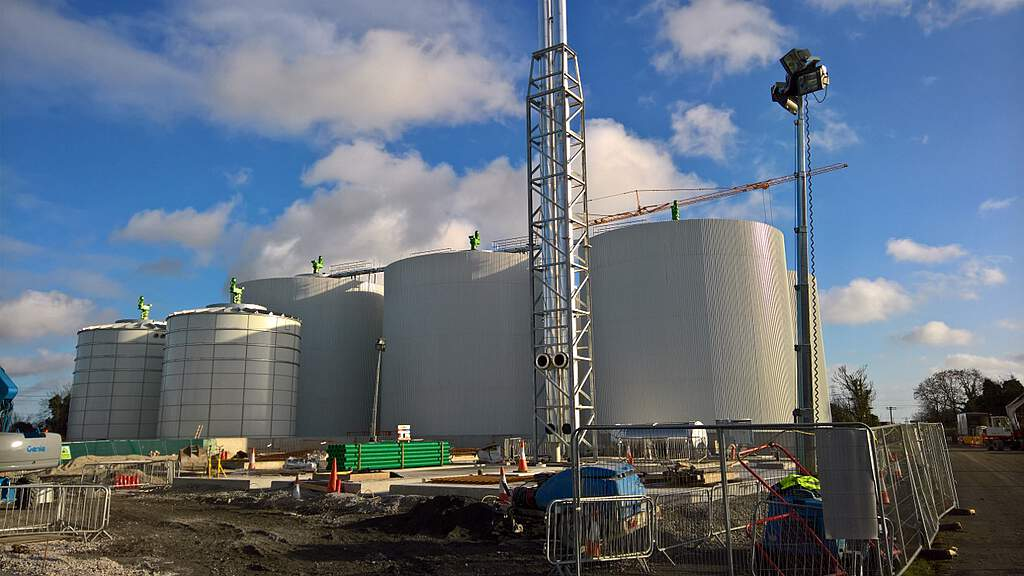 Biogas plant  Huntstown in construction, 2019