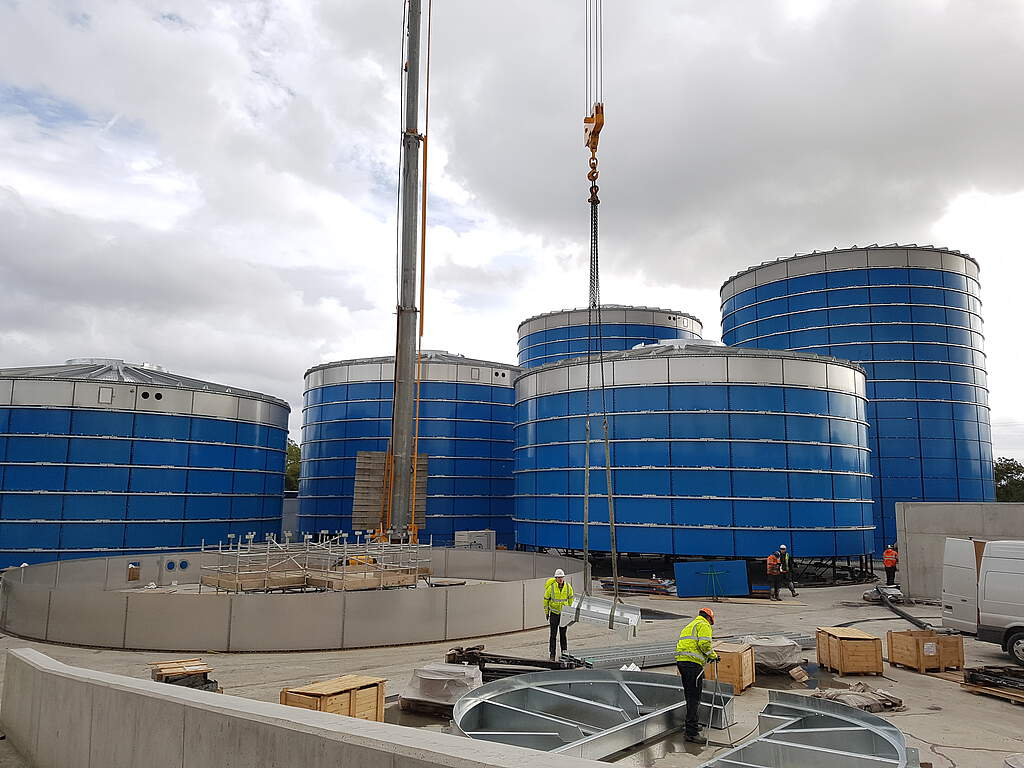 Biogasplant Huntstown in construction, 2018 September